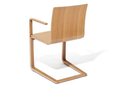 Sedia a sbalzo in legno MOJO | Sedia in legno
