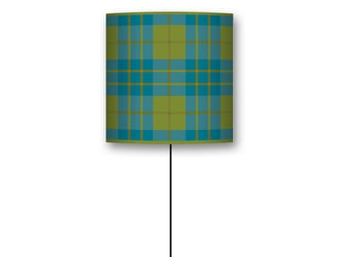 Drum shaped lampshade TARTAN
