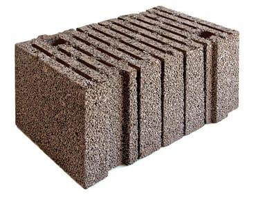 Lightweight concrete block for external wall LECABLOCCO BIOCLIMA SUPERLIGHT
