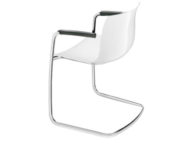 Cantilever chair with armrests CATIFA 53 | Cantilever chair