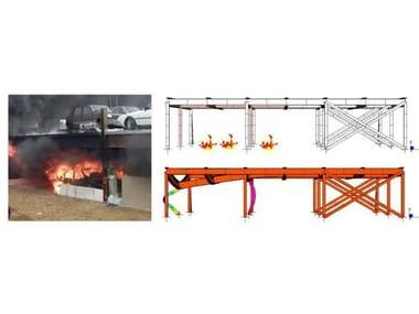 Calculation of fire resistance of structural element Straus7 - VERIFICA DANNI STRUTTURALI