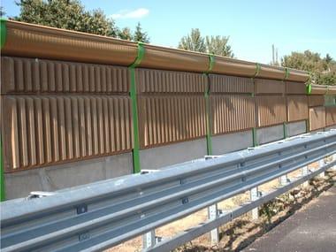 Road noise barrier AKUBETON
