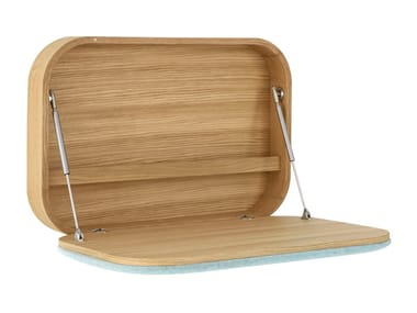 Wooden secretary desk / wall shelf NUBO
