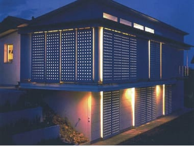 Dry-laid cement and fibre cement sheet SWISSPEARL® | Perforated panels