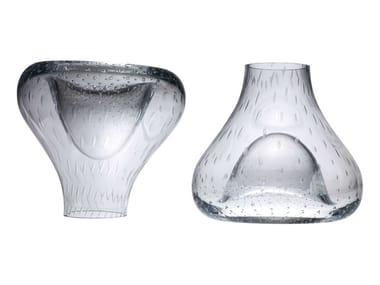 Blown glass vase UPSIDE DOWN
