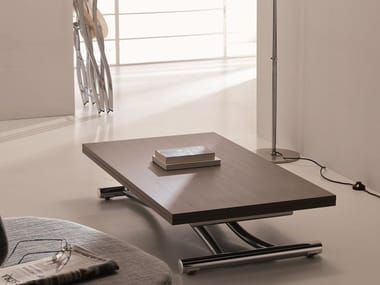 Height-adjustable extending coffee table MONDIAL