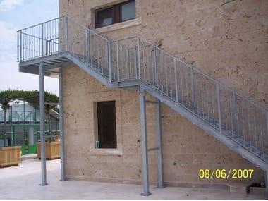 Metal Fire Escape Staircase PRATIC