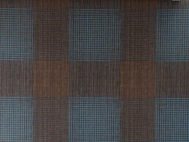 Papier peint à motifs géométriques en raphia OPOPOMAX
