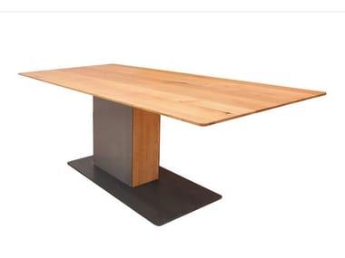 Rechteckiger Tisch aus Stahl und Holz LOOT