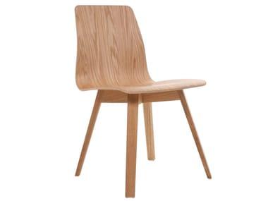 Stuhl aus massivem Holz MAVERICK | Stuhl aus Holz