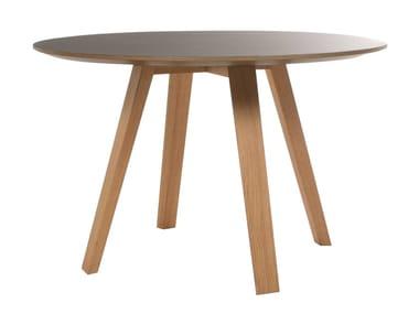 Runder Tisch aus massivem Holz MAVERICK | Runder Tisch