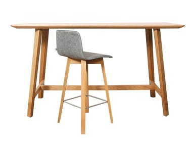 Rectangular solid wood high table MAVERICK   High table