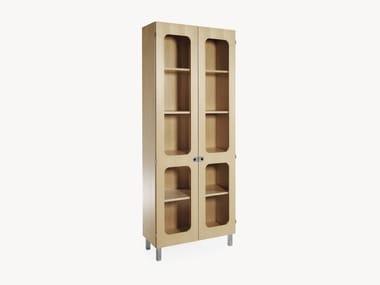 Wood veneer bookcase / display cabinet 2K-SKÅP | 2K452