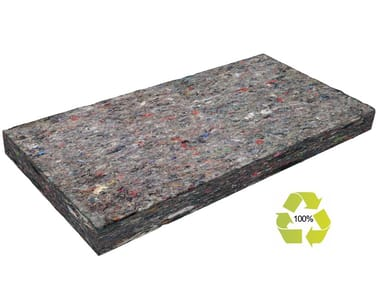 Natural insulating felt and panel for sustainable building RECYCLETHERM Km0