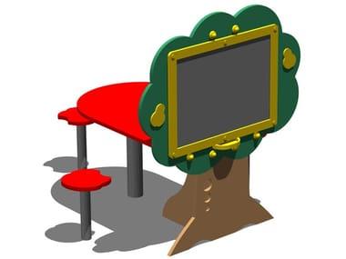 Mesa para espacios públicos / pizarra Pizarra de pizarra