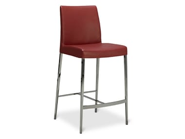 High stool with back PERLA | High stool