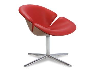 Cadeira lounge estofada de 4 raios BLOOM | Cadeira lounge