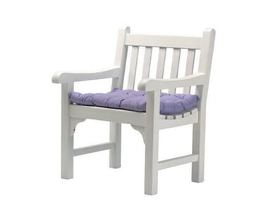 Teak garden armchair with armrests NOTTING HILL | Easy chair