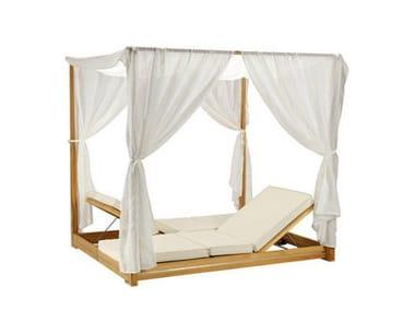 Canopy Recliner teak garden daybed ESSENZA | Canopy garden daybed
