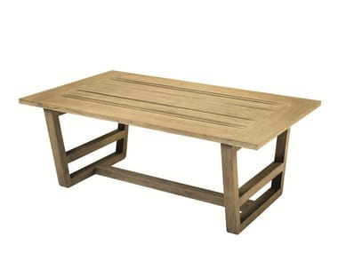 Low Rectangular teak garden side table COSTES | Garden side table