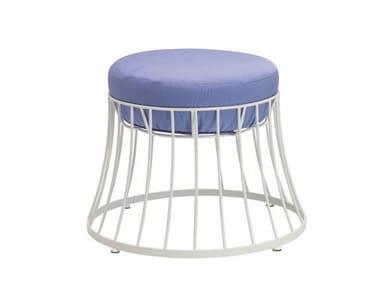 Low aluminium garden stool CLESSIDRA | Garden stool