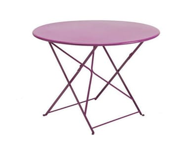 Folding painted metal garden table FLOWER | Garden table
