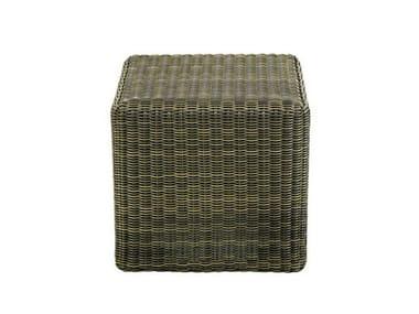 Square Ethimo EtWick® garden footstool CUBE | Garden footstool