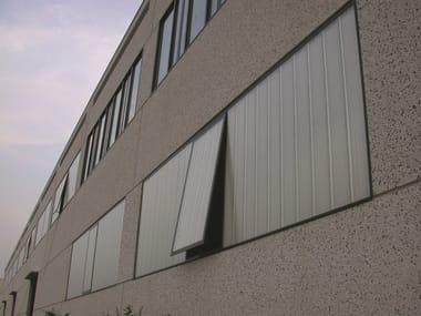 Finestra in alluminio con pannelli in policarbonato ARCOPLUS® | Finestra