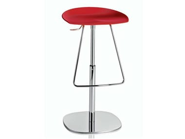 Swivel height-adjustable stool with footrest ROBIN