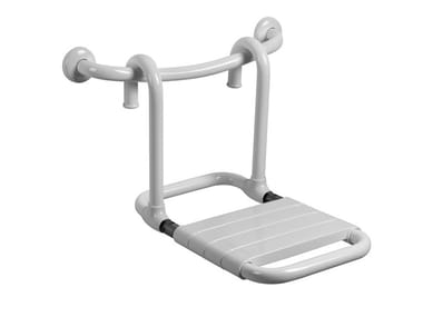 Sedile doccia ribaltabile rimovibile in acciaio MORPHOS | Sedile doccia rimovibile