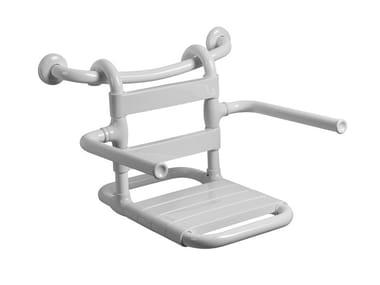 Sedile doccia rimovibile in acciaio MORPHOS | Sedile doccia rimovibile