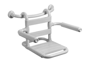 Sedile doccia rimovibile in acciaio MORPHOS | Sedile doccia
