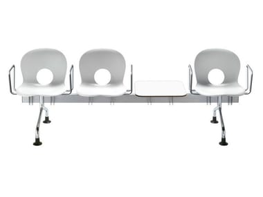 Beam seating with armrests OLIVIA | Beam seating