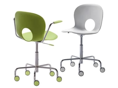 Task chair with 5-Spoke base with casters OLIVIA | Task chair with 5-Spoke base