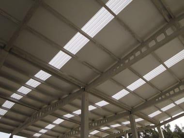 Modular system of corrugated multiwall polycarbonate ARCOPLUS® GRECACLICK