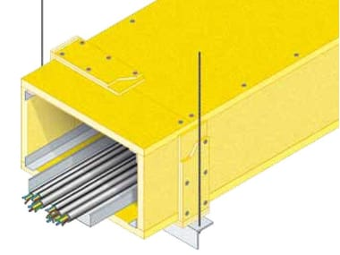 System to protect against fire penetration Protezione impianti