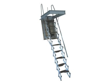 Motorized steel Retractable stair STARLUX ELEGANT