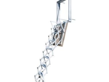 Scala retrattile a parete in acciaio STARLUX ELEGANT
