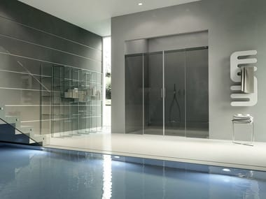 Crystal shower cabin with sliding door ACQUA 5000