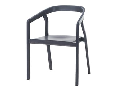 Wooden chair with armrests ONE | Chair with armrests