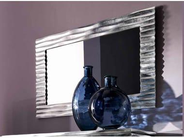 Wall-mounted framed rectangular mirror EBON