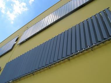 Steel and PVC solar shading ECO SUN