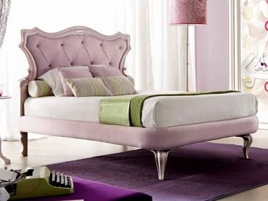Full size bed with upholstered headboard GIUSY