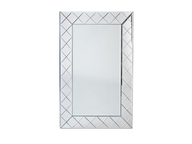 Wall-mounted rectangular mirror ILLUSION