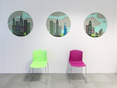 Fabric wall sticker NEW YORK CITY