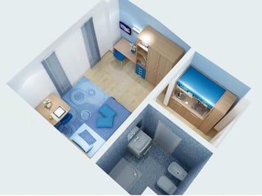 Quarto de hotel estilo moderno ZEUS