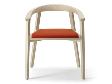 Ash easy chair with armrests PLUG | Easy chair