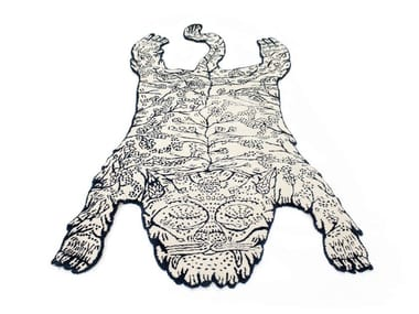 Handmade wool rug TIGER