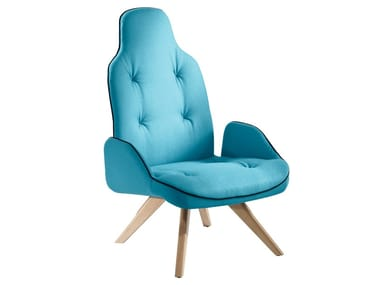 Upholstered armchair with armrests BETIBÙ P