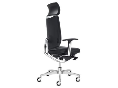 Executive chair with 5-spoke base with headrest SPIRIT | Executive chair